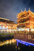 Shanghai yuyuan at night — Stock Photo
