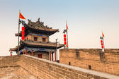 Ancient turret on xian city wall — Stock Photo
