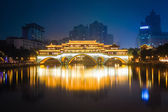 Anshun bridge ablaze with lights — Stock Photo