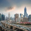 City skyline with elevated road — Stock Photo #38021391