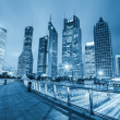 Night view of shanghai financial center skyline — Stock Photo