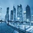 Night view of shanghai financial center skyline — Stock Photo #38022311