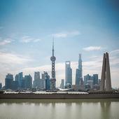 Shanghai pudong skyline in daytime — Stock Photo