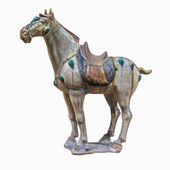 Chinese ancient horse figurines — Stock Photo