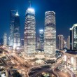 Shanghai downtown night view — Stock Photo #39995631