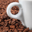 Coffee beans in background — Stockfoto