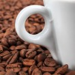 Coffee beans in background — Stock fotografie