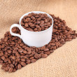 Brown coffee beans background — 图库照片