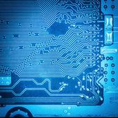 Closeup of circuit board — Stock Photo
