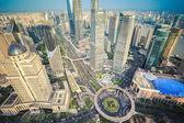 A bird's eye view of shanghai midtown — Zdjęcie stockowe