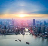 Beautiful shanghai in sunset — Stock Photo