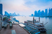 Beautiful huangpu river at dawn — Stock Photo