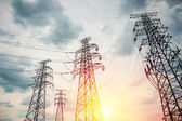 High voltage transmission pylon  — Stock Photo
