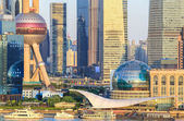 Shanghai lujiazui financial center closeup — Stock Photo