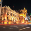 Shanghai bund streets at night — Stock Photo