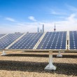 Solar power with modern city background — Stock Photo #45429999