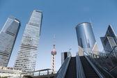 Modern cityscape of shanghai — Stock Photo