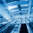 Modern blue escalator — Stock Photo #45434669