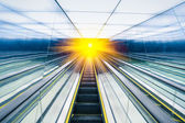 Abstract escalator — Stock Photo