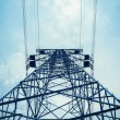 Upward view of the power transmission tower — Stock Photo #47341431