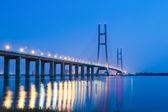 The second bridge of jiujiang at night — Stock Photo