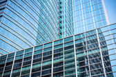 Modern glass skyscraper closeup — Stock Photo
