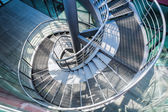 Metal spiral staircase — Stock Photo