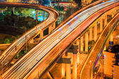 Flyover closeup at night — Stock Photo