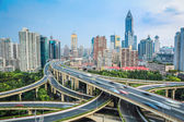 Shanghai elevated road  junction — Stock Photo