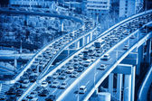 Traffic jams closeup — Stock Photo