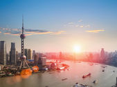 Shanghai  in a beautiful dusk — Foto Stock