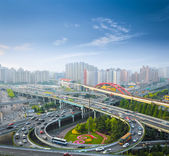 City interchange in morning — Stock Photo