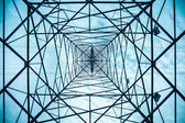 Electricity pylon structure closeup — Stock Photo