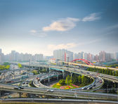 City interchange in rush hour — Foto Stock