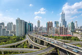 City elevated road junction in daytime — Stock Photo
