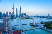 Shanghai at dusk — Stock Photo