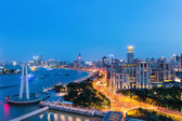 Shanghai the bund in nightfall  — Stock Photo