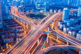 Beautiful city interchange closeup in shanghai — Stock Photo