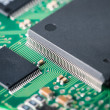 Processor with electronic circuit board closeup — Stock Photo #50554755