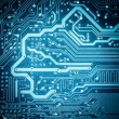 Blue circuit board texture closeup — Stock Photo #50556013