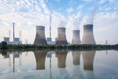 Coal-fired power plant in afternoon — Stock Photo