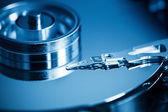 Hard disk inside closeup — Stock Photo