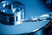 Hard disk inside closeup — Stock Photo