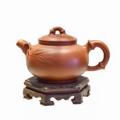 Chinese purple sand teapot isolated — Stock Photo