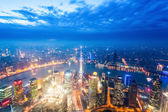 Nightfall view of shanghai — Stock Photo