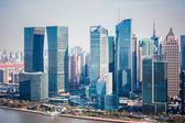 Modern buildings in shanghai financial district — Stock Photo