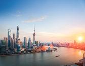 Bella shanghai nel tramonto — Foto Stock
