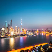 Beautiful shanghai at night  — Stock Photo