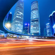Shanghai downtown at night — Stock Photo #8682952