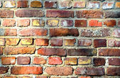 Old Red Brick Wall, Background — Stock Photo